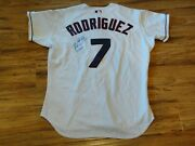 Ivan Rodriguez 7/17/2002 Game Used Worn 2 Hrs Signed Rangers Jersey Autographed