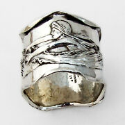 Art Nouveau Lobster Lady Napkin Ring William Kerr Sterling Silver No Mono