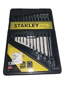 Stanley Combination Tools Set Wrench Combo Full Polish Pro Sae 13 Pcs With Case