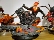 Ghost Rider 1/4 Scale Painted Statue In Stock Two Head Custom-made Led Light New