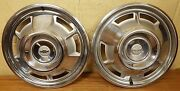 1967 Chevy Camaro 14 Wheel Covers Hubcaps - 3001 Nos - Set Of 2