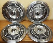 1965 Plymouth Fury Passenger 14 Wheel Cover Hubcap 574 - Set Of 4