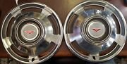 1965 Chevy Corvair 13 Wheel Covers Hubcaps - 3962 - Set Of 2 - Nos