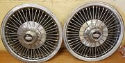 1970 - 1973 Mercury Cougar 14 Wire Wheel Covers - 71 72 Hubcaps - Set Of 2