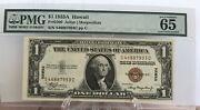 1935 A One Dollar Silver Certificate Pmg Gem Unc 65 Hawaii Wwii Note