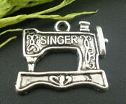 30 Pcs Antique Silver Sewing Machine Charms Pendants Findings