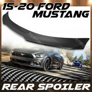 Rear Trunk Wing For 15-21 Ford Mustang Matte Carbon Fiber B Style Spoiler Lid