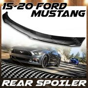 Rear Trunk Wing For 15-21 Ford Mustang Gloss Carbon Fiber B Style Spoiler Lid