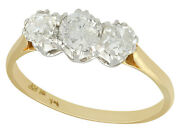 Antique 1910s Diamond And 18k Yellow Gold Three-stone Engagement Ring
