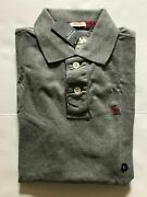 Nwt Abercrombie And Fitch Menand039s Polo Shirt Muscle Fit Grey Red Moose S L Xxl