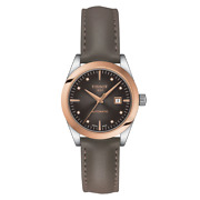 Tissot T-my Lady Automatic 18k Gold D-brown Dial Womens Watch T930.007.46.296.00