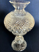 Alana 2 Pc Hurricane Lamp 13 1/2 Vintage Made In Ireland Waterford Crystal