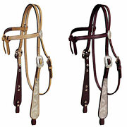 Tory Leather Tory Silver Buckaroo Knotted Browband Headstall