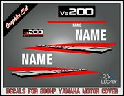 Yamaha 200hp V6 2stroke Outboard Engine Replacement Die-cut Stickers