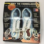 Vintage 1995 Freedom Laces Why Tie Shoe Laces No-tie Curly Coil White Usa