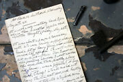Wwi Period Hand-written Account Of May 26th 1915 Zeppelin Air-raid Southend