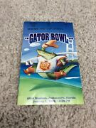 1999 Notre Dame Football Vs Georga Tech Football Toyota Gator Bowl Ticket Stub