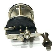 Vintage Antique Estate Early Large Meisselbachmfg Co Cast Fishing Reel Spool Old