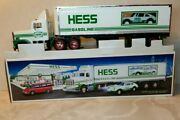 1992 Hess Truck W/ Racer. Head And Tail Lights. Racer W/friction Motor New In Box.