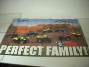 Suzuki The Perfect Family Quad Runner 1st Four Motorcycle Poster Used Po-310