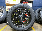 20x9 D531 Fuel Hostage Black Wheels Rim 32 At Tires Package 5x150 Toyota Tundra