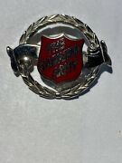 Salvation Army Enamel Hat Pin Badge Silver Tone. With Red Enamel.