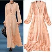 Occident Womens Sexy V Neck Long Sleeve Maxi Party Runway Holiday Dress Cocktail