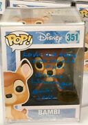 Donnie Dunagan Signed Autographed Bambi Funko Pop Disney Exclusive With Quote