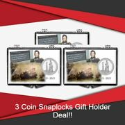 Coin Snaplock Holder Perryand039s Victory And Intl. Peace Quarters Storage Deal Of 3