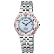 Citizen Exceed Eco-drive Radio Watch Euros Series Es1036-50a [free Shipping]