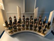 Marx 1960and039s Set Of United States 1-36 Presidents 35 Mini Figures W/display