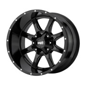 4-pcmoto Metal Mo970 Gloss Black With Milled Lip 18x9 Ford F250 Rims 8x170 +18