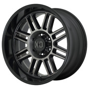 4-xd By Kmc Wheels Cage Gloss Blk With Gray Tint 22x10ford F150 Rims 6x135 -18