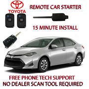 2020 Toyota Corolla Remote Car Starter -no Wire Splicing - Regular Key Only