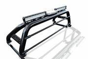 Roll Bar + Leds + Bar + Beacon + Tonneau Cover For Mitsubishi L200 2019+ Black