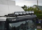 Roof Bar + Leds + Jumbo Spots + Clear Beacon For Daf Xf 95 Space Cab Truck Black