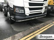 Under Bumper Bar + Leds For New Gen Scania P G Xt Series Low Cab Stainless Steel