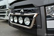 Grill Bar + Step Pads + Side Leds For Renault T Range Polished Stainless Steel