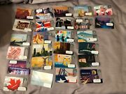 Starbucks City/state Gift Card Lot Of 37 No Value Never Swiped