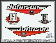 Johnson Oceanpro 150hp Red Decals Kit Outboard Stickers Die-cut