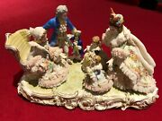 Dresden Porcelain Lace Figurine Grandmother's Birthday Very Rare And Collectable