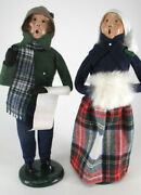 Byers Choice - Rare Pair Of Victorian Carolers - 1985 - Excellent
