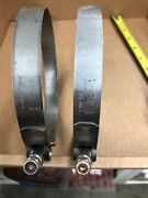 Dixon Boat Hose Clamp D40c-75-525-s | 5-1/2 Inch Stainless Pair