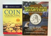 National Parks Deluxe P And D Quarter Album 2010-2021 And Coin Collecting Guide