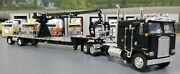 1/64 Dcp K100 Kenworth Black And Crane Fitted To Trailer New 60-0694