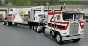 1/64 Dcp K100 Kenworth White/red/black And Crane Fitted To Trailer 60-0698