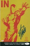 Stan Lee Signed And039in For The National Championshipavengersand039 Comic Book 40 Jsa
