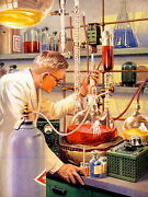 87197 Vintage Science Lab Illustration Chemistry New Decor Laminated Poster Ca