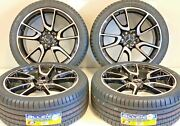19 Wheels Rims Tires Fit Mercedes Benz S550 Amg S63 Machined Staggered 4 Black