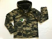 Nwt Hollister By Abercrombie Menand039s Fleece Lined Jacket Coat Camo Green Size M